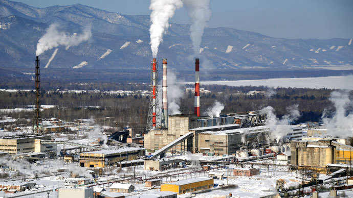 A view of the Baikal Pulp and Paper Mill (BPPM) in the Irkutsk Region.(RIA Novosti / Alexey Kudenko)