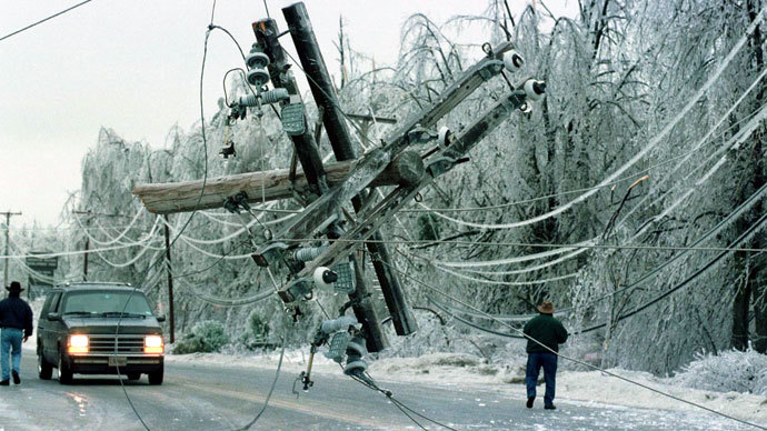 Thousands in the dark after ice storms cut power lines in US, Canada