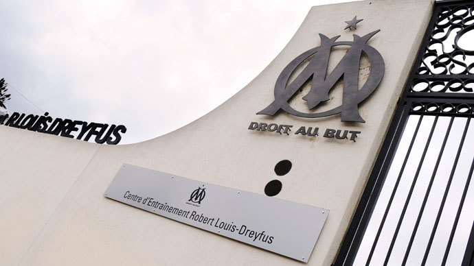 he entrance of the Olympique de Marseille football team training center named after Robert-Louis Dreyfus.(AFP Photo / Gerard Julien)