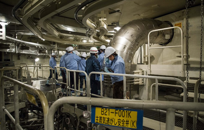 A reactor vessel at the unit six reactor building of Tokyo Electric Power Co. (AFP Photo / Recoquille Bression)