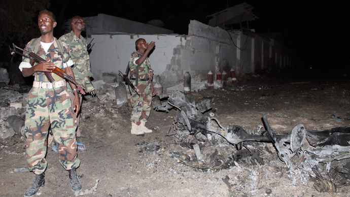 ​At least 11 killed in 3 bomb blasts at hotel in Somali capital