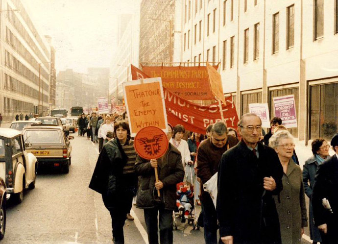 Miners' Strike Rally in London in 1984 (Photo from wikipedia.org)