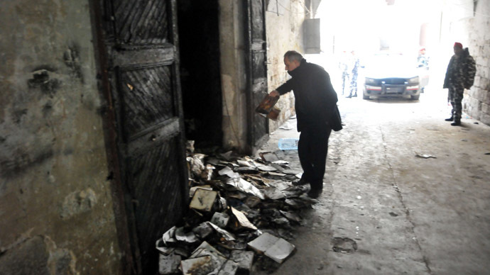 Thousands of books, manuscripts torched in fire at historic Lebanese library (PHOTOS)