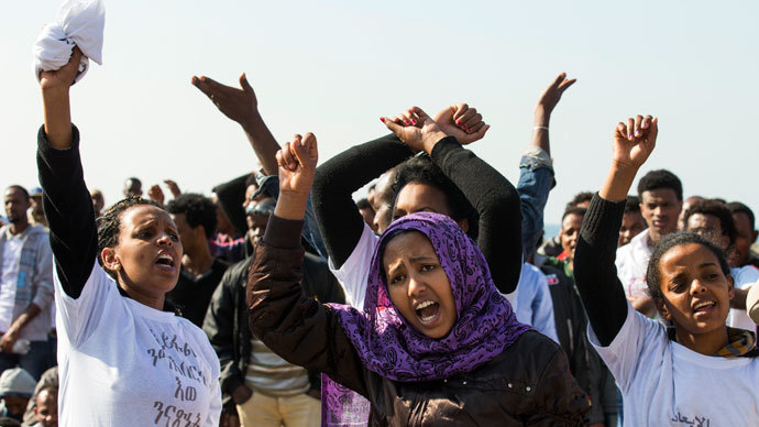 African migrant protests spread to embassies in Israel