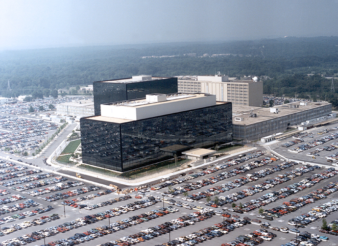 An undated aerial handout photo shows the National Security Agency (NSA) headquarters building in Fort Meade, Maryland. (Reuters / NSA)
