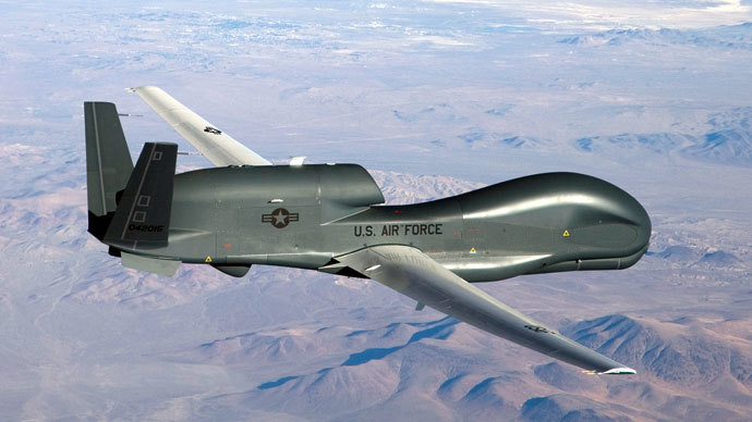 An undated U.S. Air Force handout photo of a RQ-4 Global Hawk unmanned aircraft.(Reuters / Bobbi Zapka)