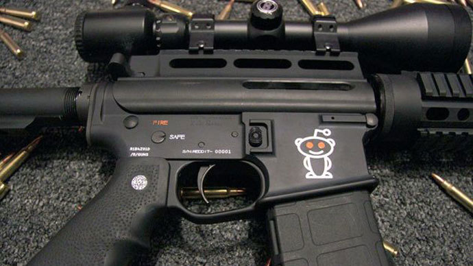 Reddit hosting firearm sales, even licensing logo for assault rifles - report