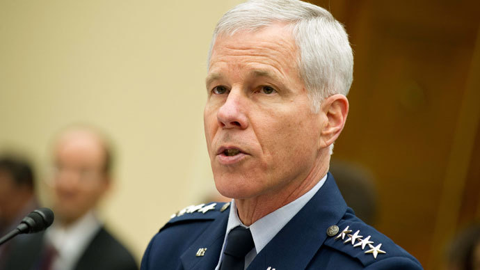 William Shelton, commander of the US Air Force Space Command.(AFP Photo / Nicholas Kamm)