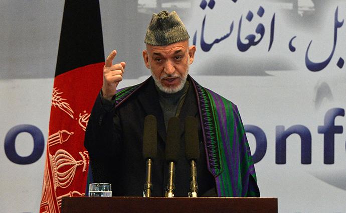 Afghan President Hamid Karzai (AFP Photo / Aref Karimi)