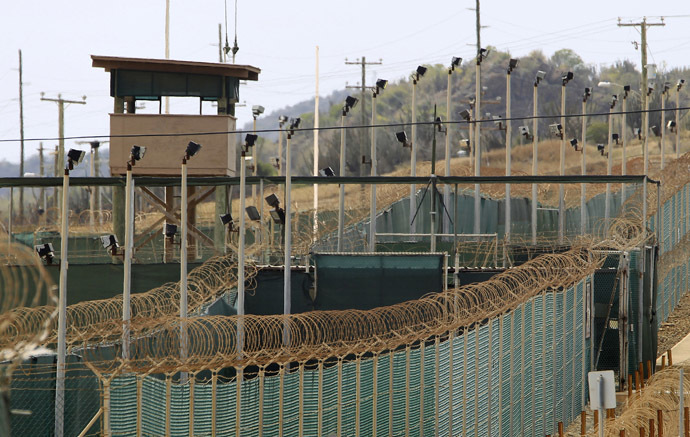 The exterior of Camp Delta is seen at the U.S. Naval Base at Guantanamo Bay, March 6, 2013. (Reuters/Bob Strong)