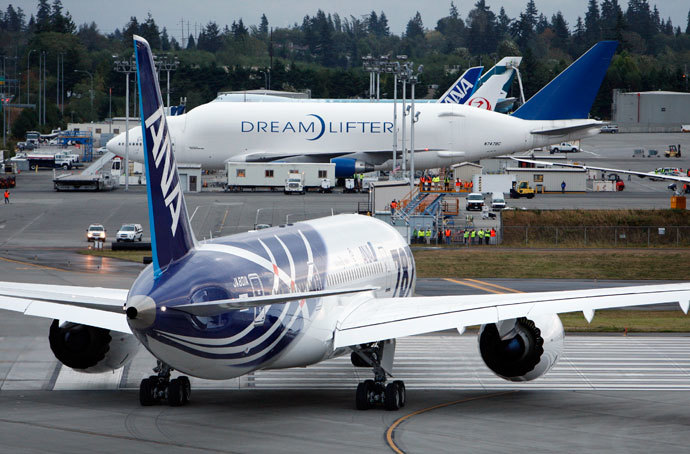 A Boeing Dreamlifter jet.(AFP Photo / Kevin P. Casey)