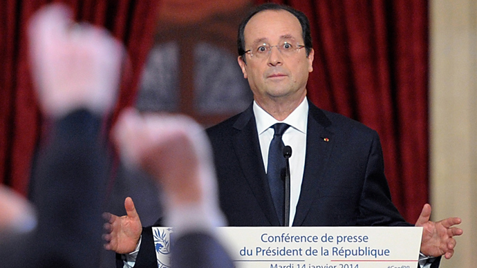 Hollande pledges €50bn public spending cut in 2015-17