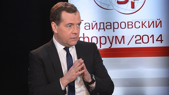 Russia needs to boost small businesses in 2014, Medvedev tells Gaidar Forum