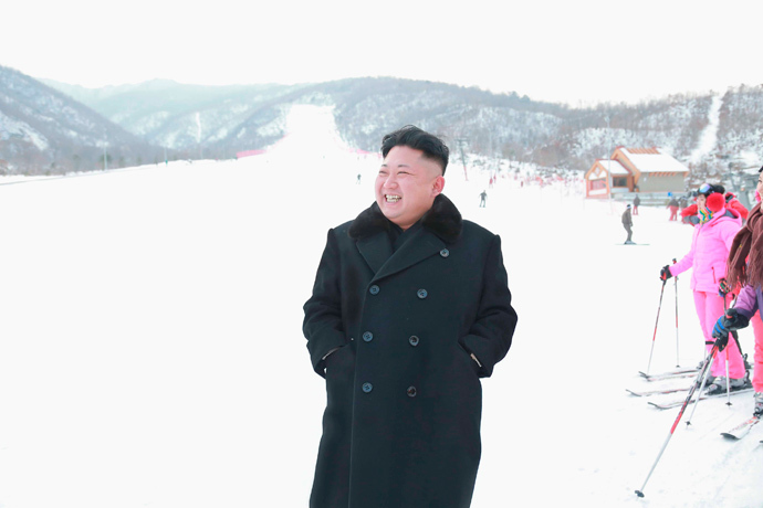 North Korean leader Kim Jong Un visits the newly built ski resort in the Masik Pass region on December 31, 2013. (Reuters / KCNA)