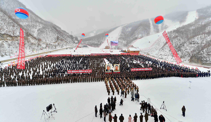 Opening ceremony of the ski resort at Masik Pass on December 31, 2013 in North Korea's Kangwon province (AFP Photo / KCNA via KNS)