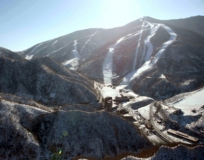 General view of the ski resort at Masik Pass in North Korea's Kangwon province (AFP Photo / KCNA via KNS)