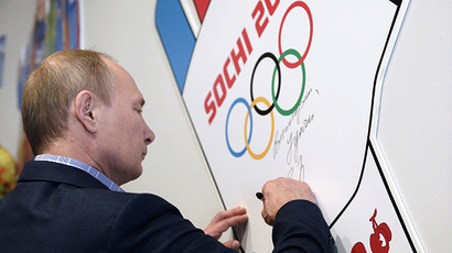 Putin on Sochi: I would very much like sports not to be marred by politics