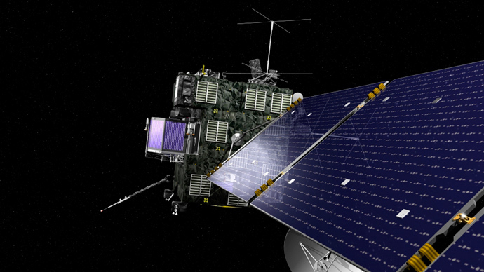Rosetta, the European Space Agency's cometary probe with NASA contributions, is seen in an undated artist's rendering (Reuters / NASA)