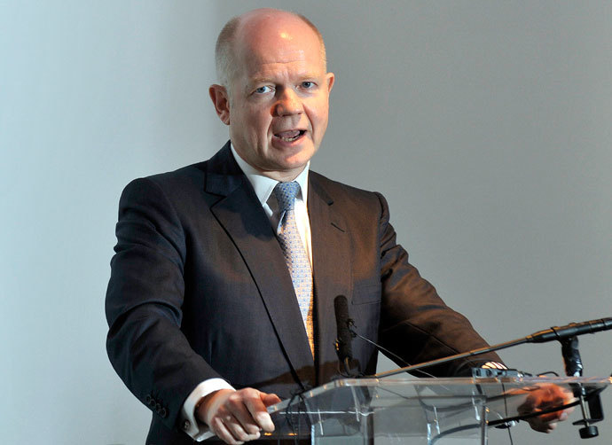 Britain's Foreign Secretary William Hague speaks at the launch of the Scotland analysis paper in Glasgow on January 17, 2014.(AFP Photo / Andy Buchanan)