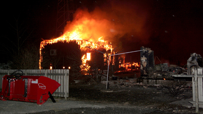 Fire devours historic Norwegian village, 90 people hospitalized