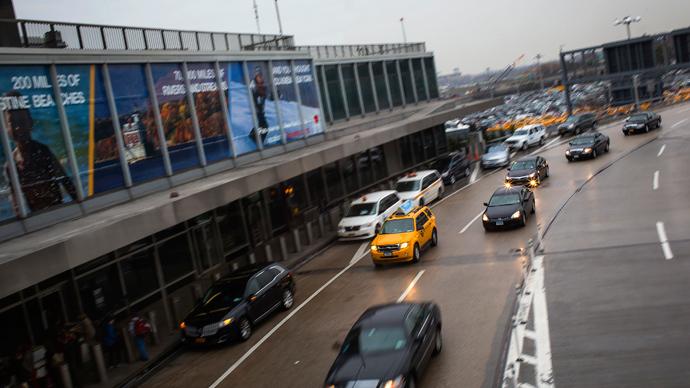 Police arrest protesters blocking LaGuardia airport