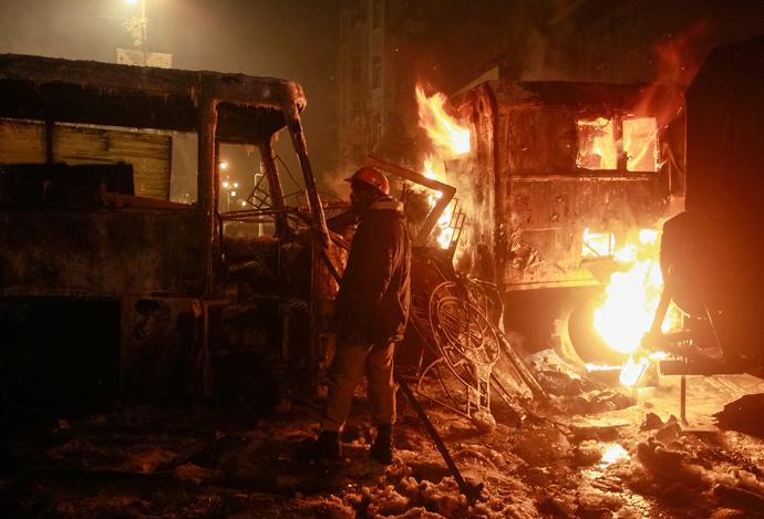 Espectaculares imágenes de los disturbios en Kiev Kiev-14