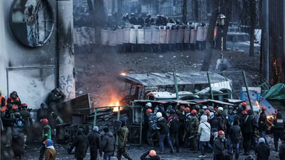 Russian senators condemn Ukrainian protests, warn of dire consequences