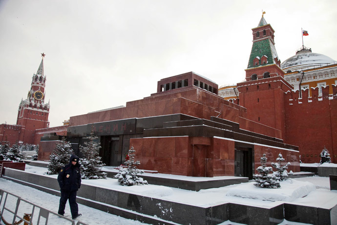 Lenin's Mausoleum at the Red Square in Moscow. (RIA Novosti/Evgenyi Samarin)