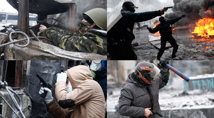 (L-R) (Reuters / Vasily Fedosenko), (AFP Photo / Vasily Maximov), (Reuters / Vasily Fedosenko), (AFP Photo / Sergei Supinsky)