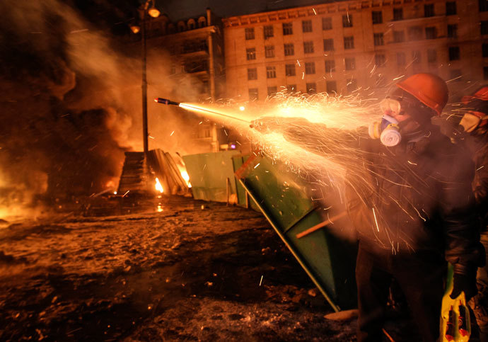 Kiev, January 23, 2014.(Reuters / Valentyn Ogirenko )