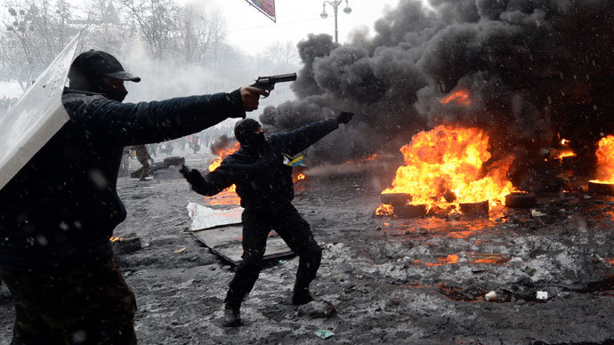 Kiev, January 22, 2014.(AFP Photo / Vasily Maximov)
