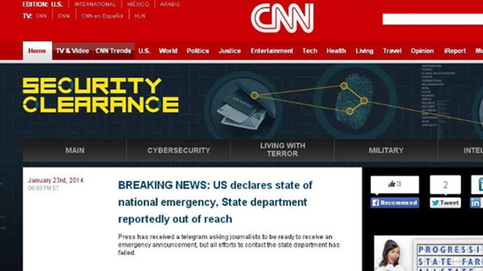 Syrian Electronic Army hacks CNN accounts amid Geneva 2 talks