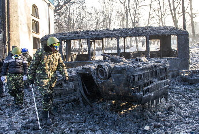Kiev, January 23, 2014 (AFP Photo / Volodymyr Shuvayev)