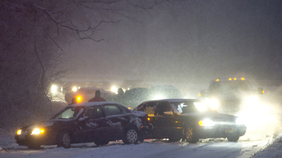 Up to 100 cars pile up on icy Pennsylvania highway (PHOTOS)