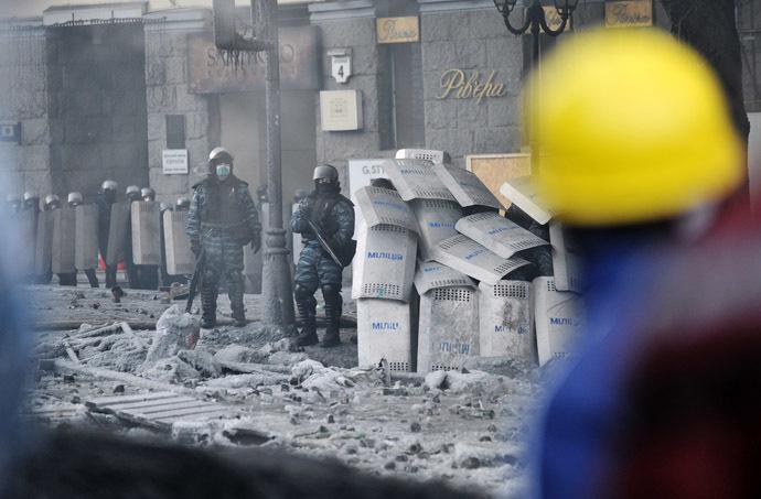 Kiev, 25 de janeiro de 2014.  (AFP Photo / Genya Savilov)