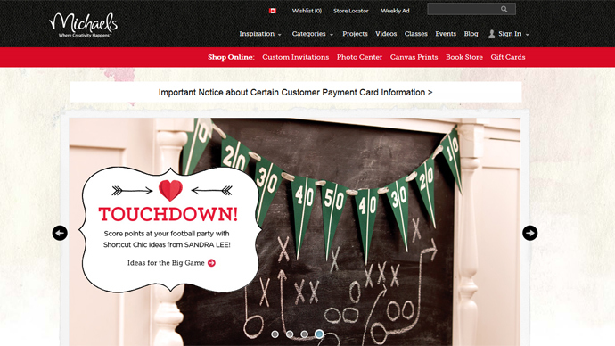 Michaels investigating possible breach of credit card data