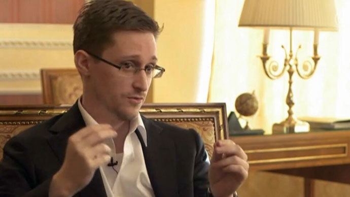 Edward Snowden.(Video still from interview broadcast)