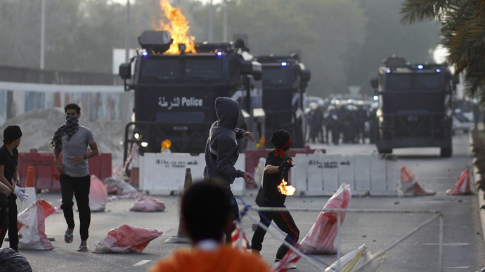 Fears of soaring tensions as police clash with protesters in Bahrain