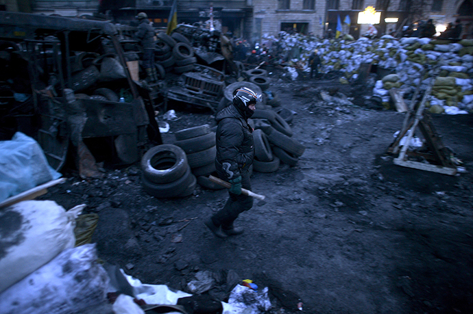January 27, 2014. (AFP Photo / Aris Messinis)
