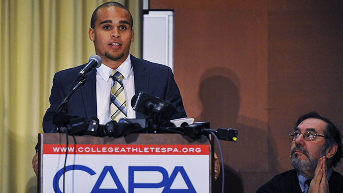 ​College athletes file petition to create labor union