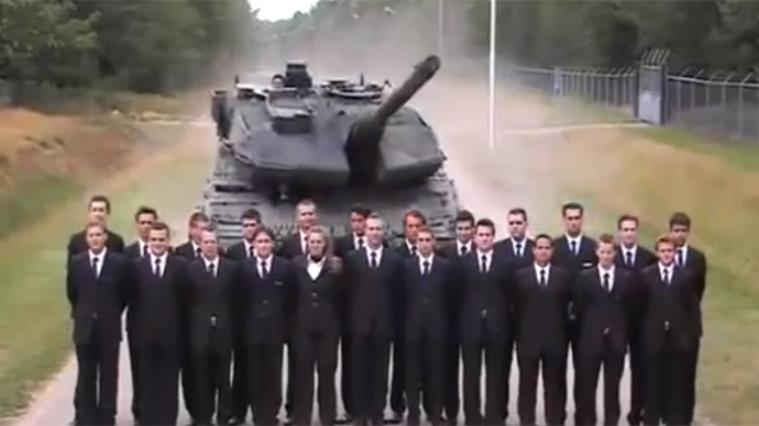 Footage of tank using crowd of people for full-speed brake demo goes viral (VIDEO)
