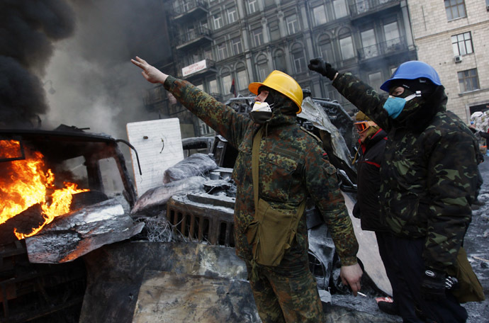 Kiev, January 25, 2014. (Reuters/David Mdzinarishvili)