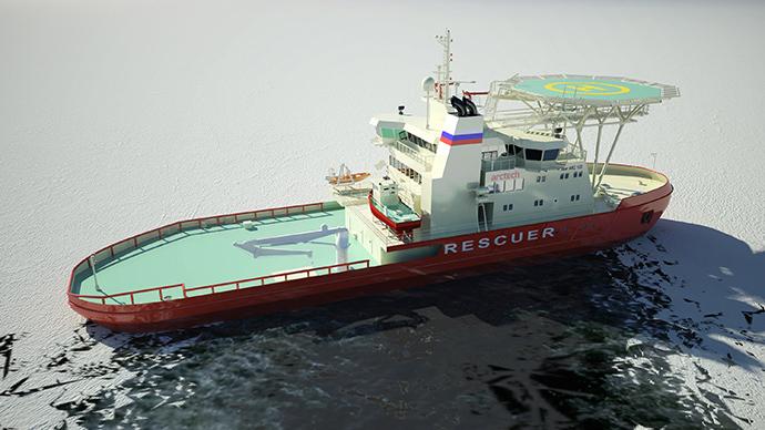 Russia's sideways sailing 'oblique icebreaker' has final trials