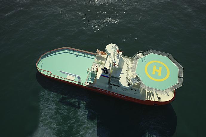 Icebreaking rescue vessel NB 508 (Image from arctech.fi)