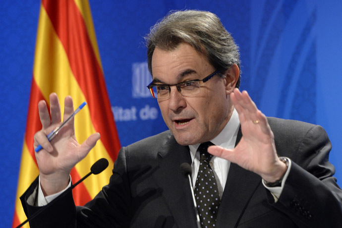 President of the Catalonia regional government and leader of the Catalan party CIU (Convergence and Unity party) Artur Mas (AFP Photo)