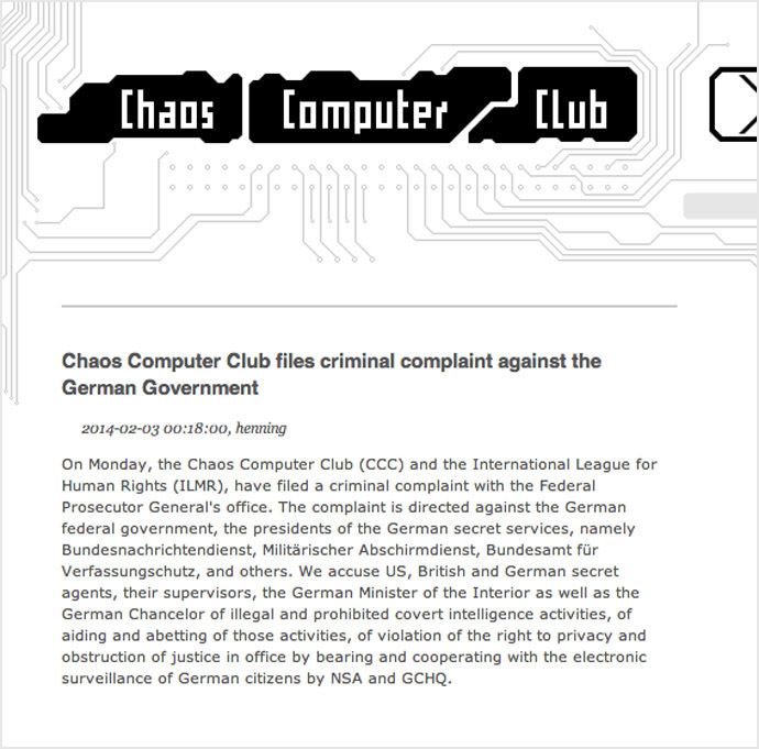 Screenshot from www.ccc.de