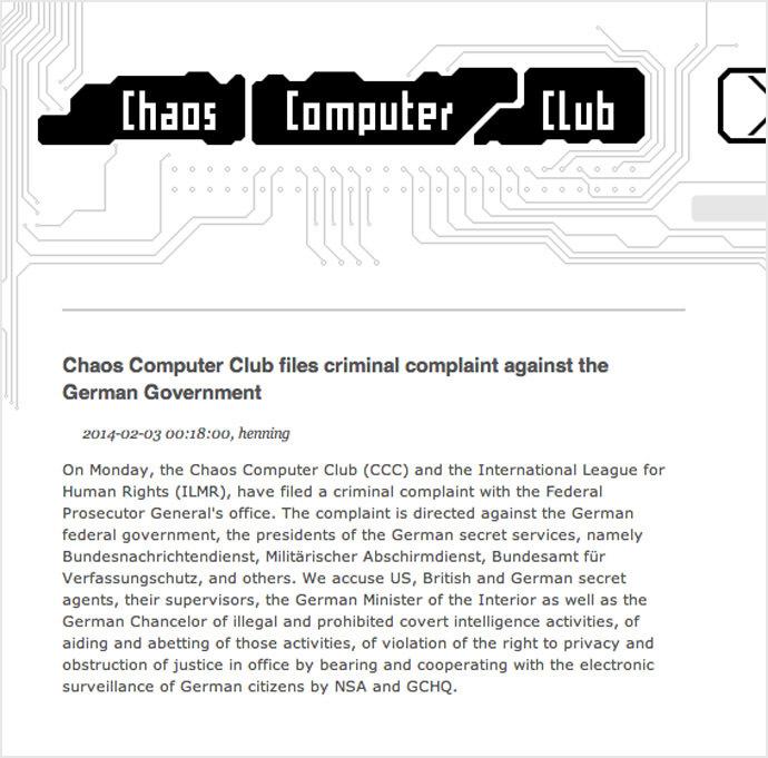 Screenshot from www.ccc.de