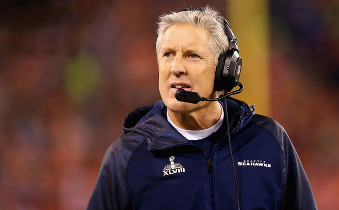 Head coach Pete Carroll of the Seattle Seahawks (AFP Photo / Getty Images / Elsa)