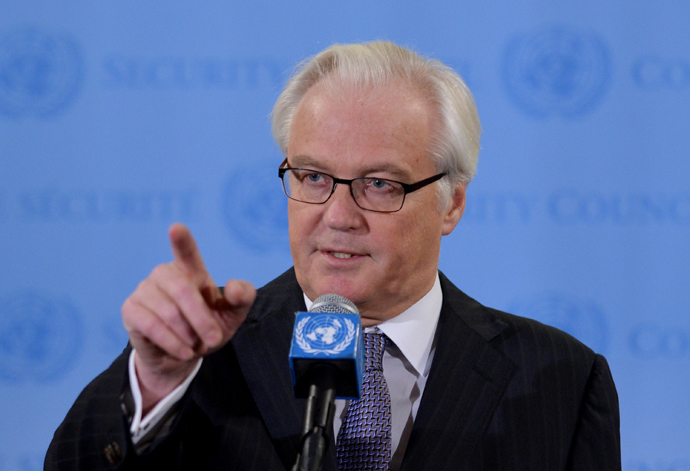 Vitaly Churkin, Russia's Ambassador to the United Nations (AFP Photo / Stan Honda)