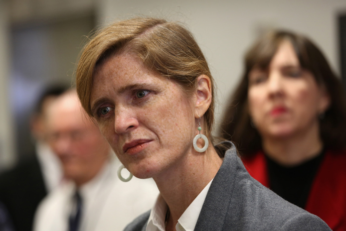 U.S. Ambassador to the United Nations Samantha Power (John Moore / Getty Images / AFP)